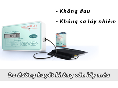 máy đo đường huyết không cần lấy máu